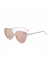 sunglasses,metallic sunglasses,rose gold,bikiniluxe