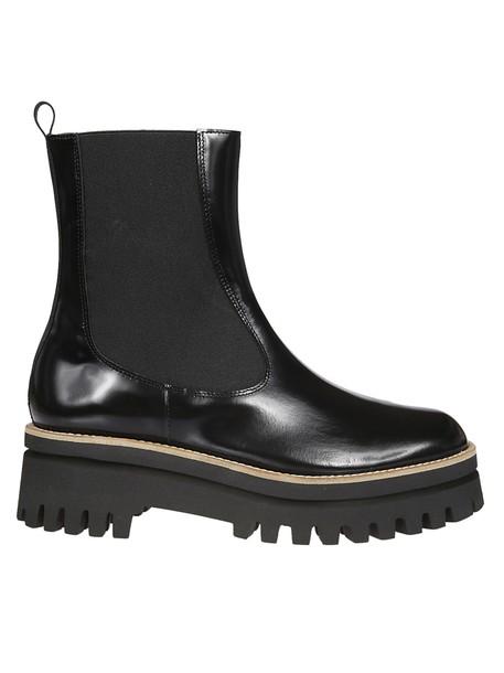PALOMA BARCELÒ heel chunky heel ankle boots black shoes