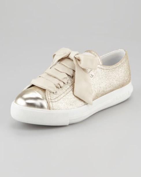 shoes prada shoes gold shoes