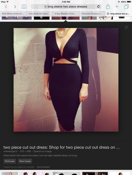 dress black two piece dress