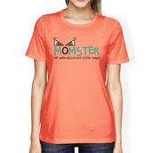 t-shirt,monster,halloween,halloween shirt,funny shirt,graphic tees women,peach shirt