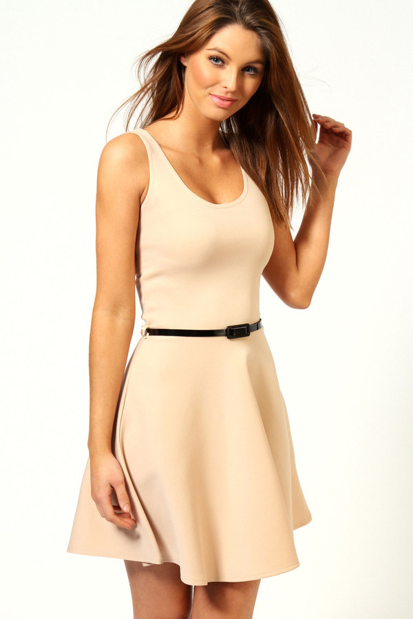dress beautiful beige dress