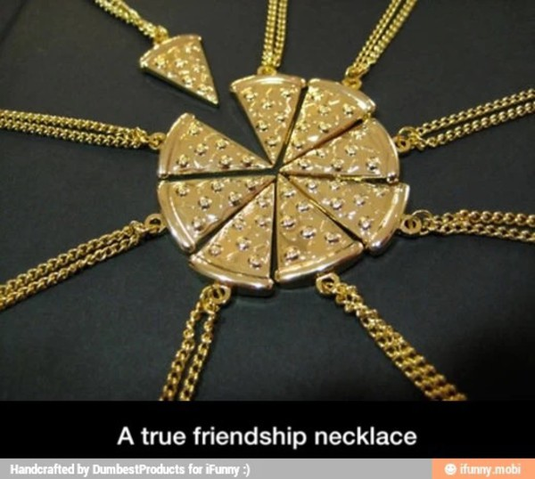 jewels pizza necklace
