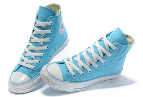 shoes baby blue all-star converse