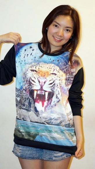 shirt tiger shirt t-shirt top tiger print leopard print leopard print top vest
