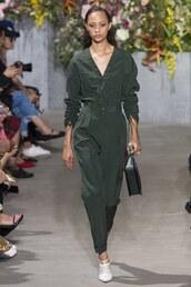 jumpsuit,selena forest,model,jason wu,ny fashion week 2017,nyfw 2017,run,runway,pants,top