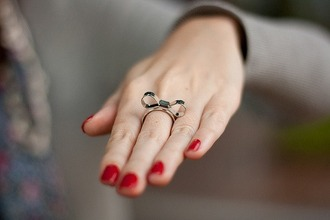 bows jewels bow ring ring metal