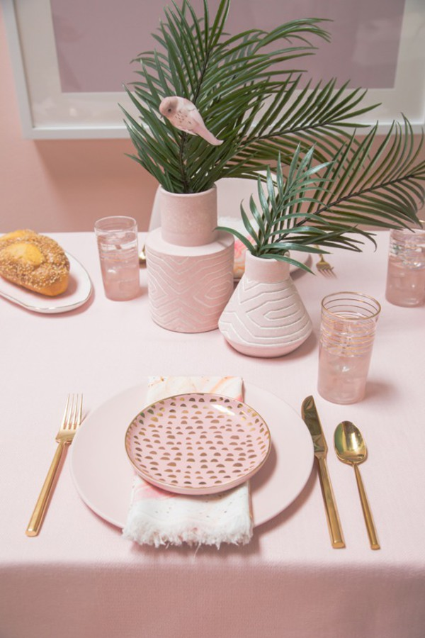 home accessory home decor home furniture table dinnerware thanksgiving pink millennial pink