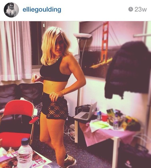 black shorts ellie goulding