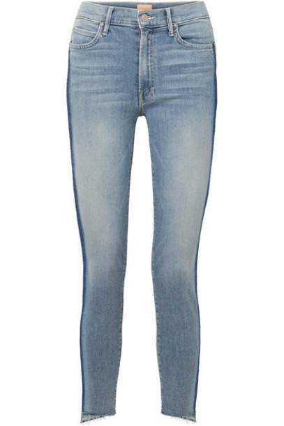 Mother jeans skinny jeans denim cropped high light
