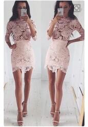 dress,pink,crochet,crochet dress,long sleeves,long sleeve dress,bodycon,bodycon dress,lace,lace dress,mini dress,party dress,sexy party dresses,sexy,sexy dress,party outfits,sexy outfit,summer dress,summer outfits,spring dress,spring outfits,fall dress,fall outfits,classy dress,elegant dress,cocktail dress,date outfit,cute,cute dress,girly,rly dress,birthday dress,girly dress,clubwear,club dress,homecoming,homecoming dress,graduation dress,prom dress,wedding clothes,wedding guest,engagement party dress,romantic dress,romantic summer dress,dope,floral dress,see through,see through dress