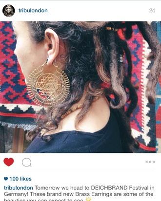 jewels aztec earrings aztec festival big brass big earrings bronze