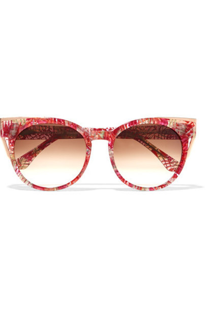 Thierry Lasry - Monogamy Cat-eye Acetate And Rose Gold-tone Sunglasses - Red