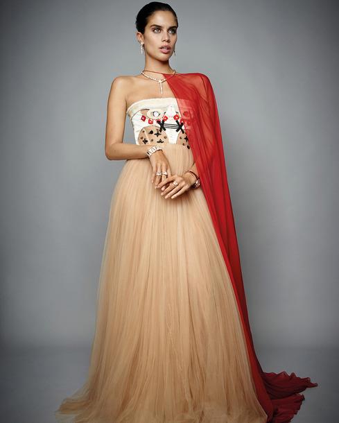 dress gown tulle dress prom dress sara sampaio model editorial strapless