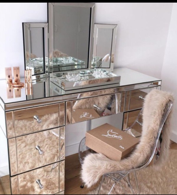 home accessory tumblr makeup table chair mirror