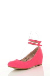 shoes,pink flats with straps