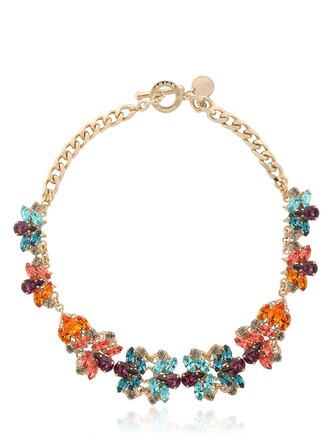 necklace gold multicolor jewels
