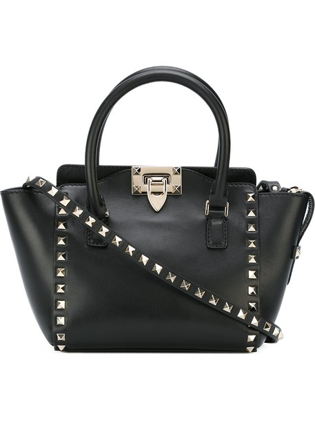 Valentino metal women leather black bag