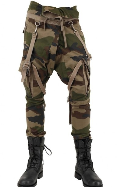 Pants: green, brown, black, army pants, camouflage, camo pants ...