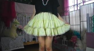 skirt yellow skirt venusangelic