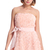 ROMWE | ROMWE Faux Roses Embellished Pink Bandeau Dress, The Latest Street Fashion