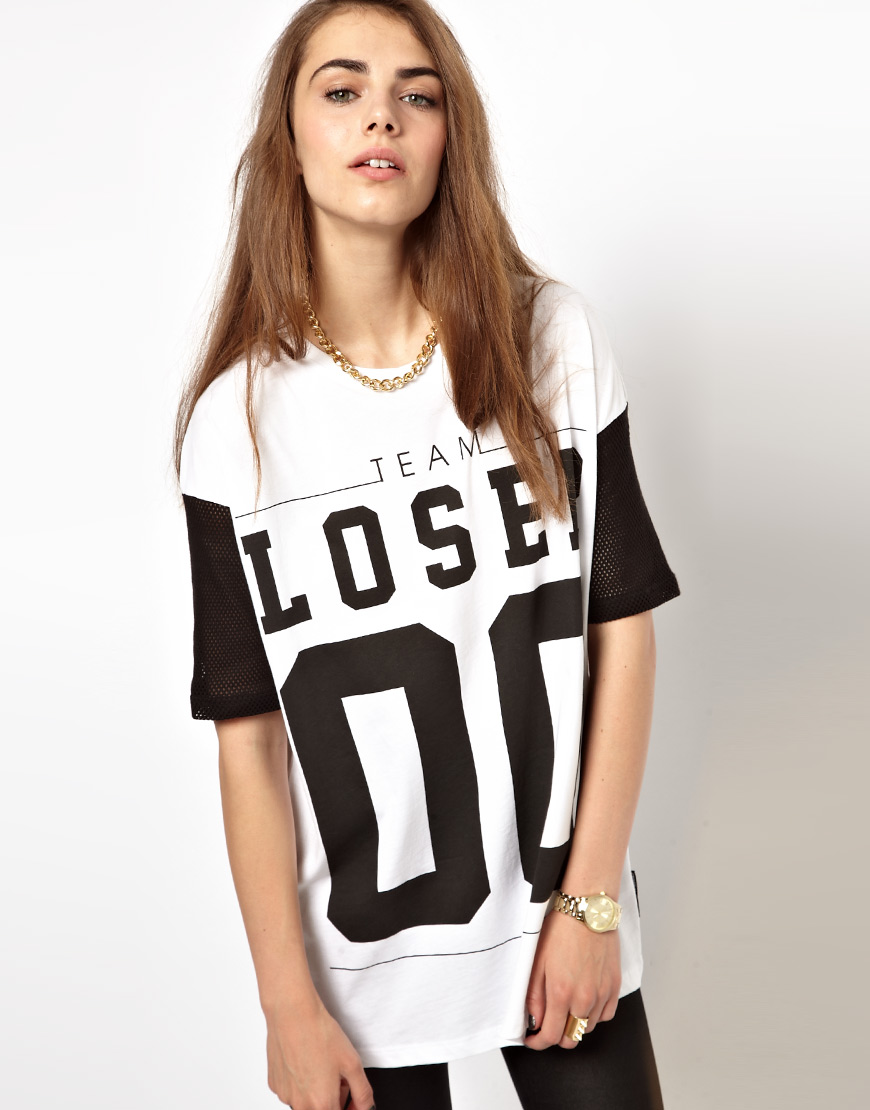 Criminal Damage T-Shirt With Team Loser Print at asos.com