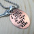 I Keep a Close Watch on This Heart of Mine - Hand Stamped Pendant with Ball Chain Necklace