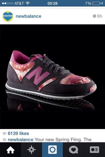 shoes, new balance, floral - Wheretoget
