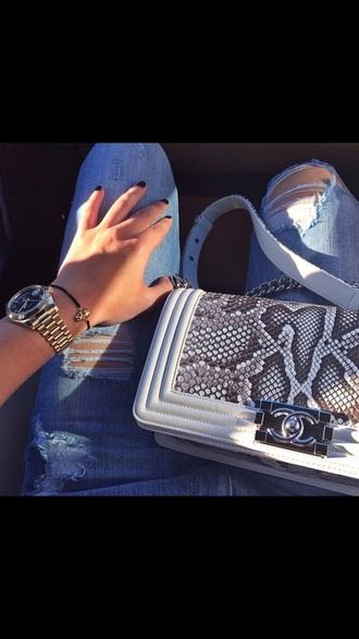 jewels skull black bracelets gold watch silver