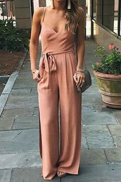 jumpsuit,maykool,v neck,sexy jumpsuit,sleeveless