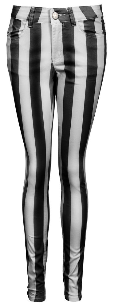 Womens Vertical Stripe Super Skinny Jeans Sizes 8 to 14 New | eBay