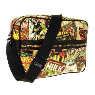 Marvel Comics Printed Comic Strip Style Messenger Bag - Official: Amazon.co.uk: Shoes & Bags