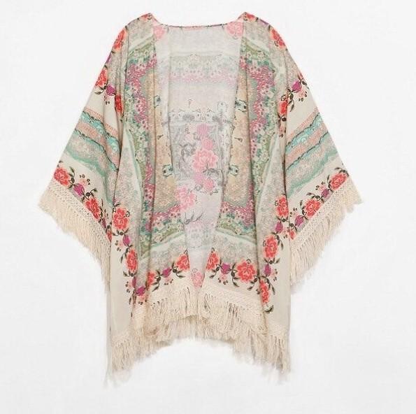 Floral persian print kimono/cardigan by mir