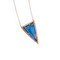 Medium blue triangle crystal necklace