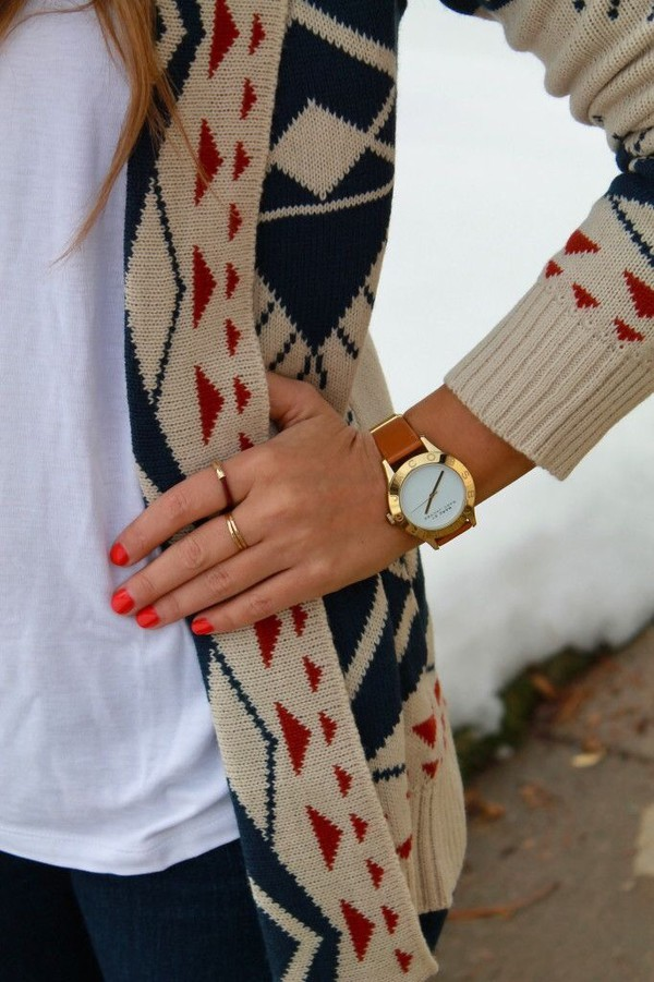 cardigan jewels watch