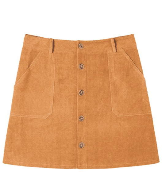 skirt girly brown button up button up skirt
