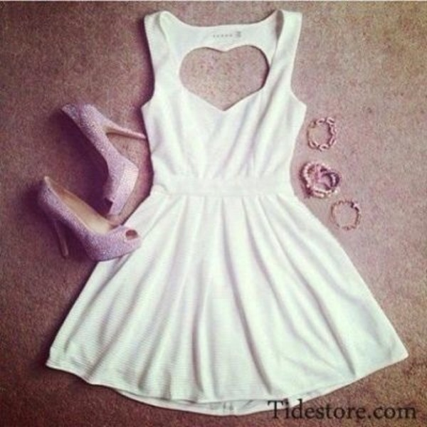 dress white heart back white dress heart back perfect cute cute dress