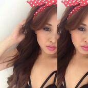 hair accessory,polka dots