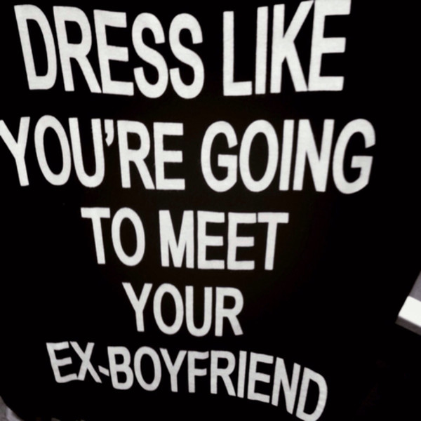 shirt ex boyfriend graphic tee shirt with words t-shirt boyfriend tshirt black blouse white ex quote on it