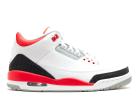 "air jordan 3 retro ""2013 release"" - white/fire red-silver-black  | Flight Club"