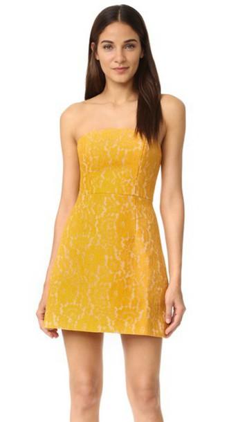 dress mini dress mini lace mustard