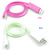 iPhone 5S 5C 5 Charger|Momen LED Light Up Luminescent Visible Current Flow Smart Charger and Sync Cable for Apple iPhone 5