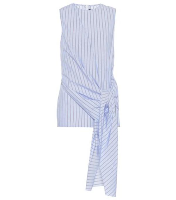 Joseph Alicia striped cotton top in blue