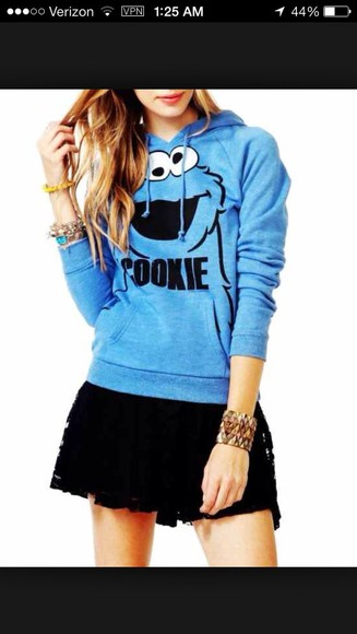 long sleeve sweater cookie monster