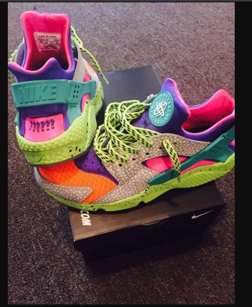 Shoes: huarache, nike sneakers, multicolor, colorful nikes ...