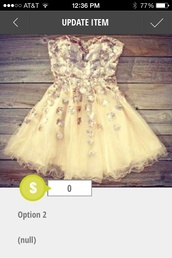 dress,cream dress,cream dress with silver sparkles,sweatheart neckline,fairy tale,homecoming dress,prom dress,gold sparkle,puffy