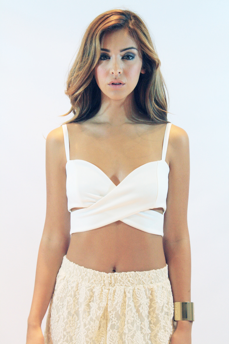 WHITE DOVE CROP TOP : Current Fashion Trends & Styles