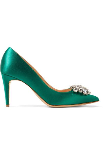 embellished pumps satin shoes