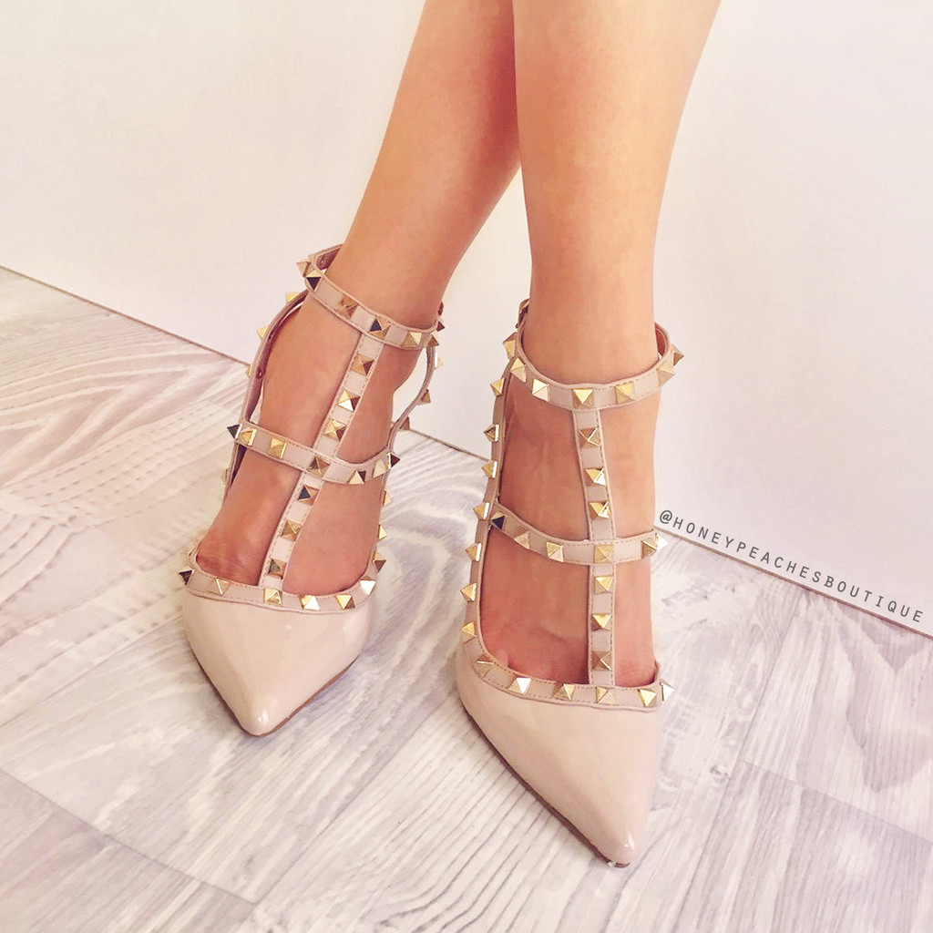 Nude Heels With Spikes  Tsaa Heel