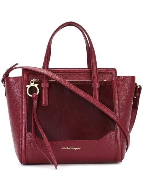 Salvatore Ferragamo hair women leather red bag